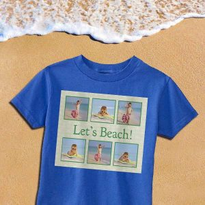 Create custom t shirts for your kids using their favorite photos and personalized text.