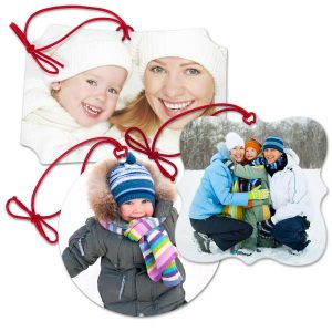 Create your own low cost photo ornaments with our classic canvas ornaments