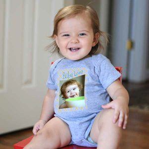 Create a custom pullover onesie for your baby with MyPix2 Onesies