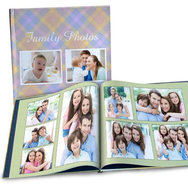 Personalized 12x12 Photo Cover Book with custom pages and pictures