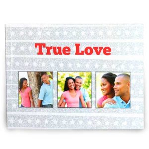 Create your own 5x7 photo book with custom glossy cover