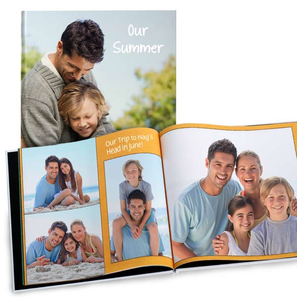 Create a personalized photo book with MyPix2 8x8 glossy hardcover books