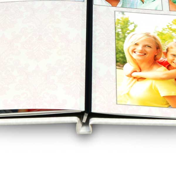 Lay flat photo book with high quality lay flat binding