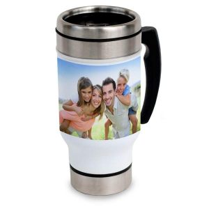 Create a travel mug to keep you warm and ready for your morning commute