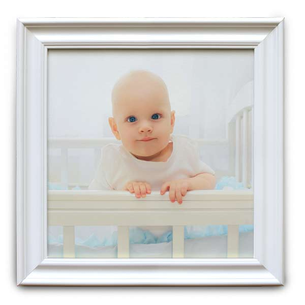 Compliment your home's décor and a favorite photo with our white framed canvas prints.