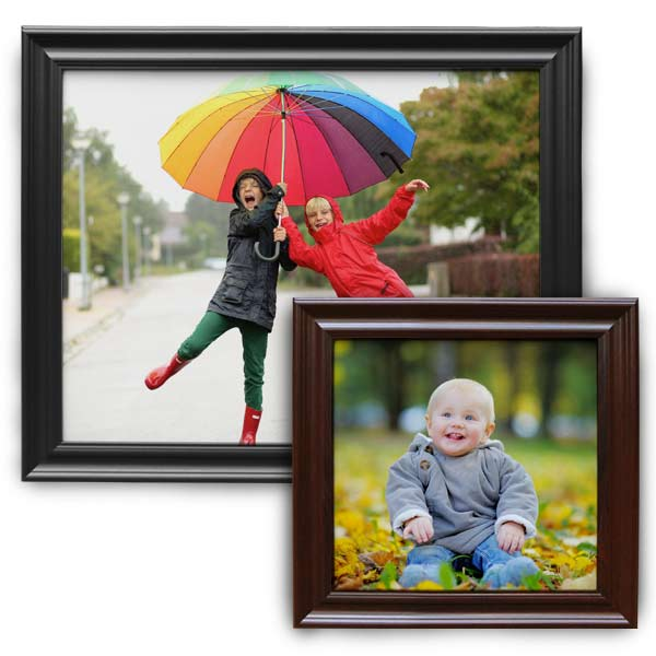 Add flair to your canvas print with traditional style wood frames from MyPix2