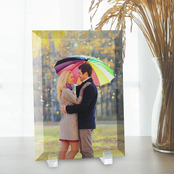 Beautifully display your photos printed on glass with MyPix2 beveled glass prints