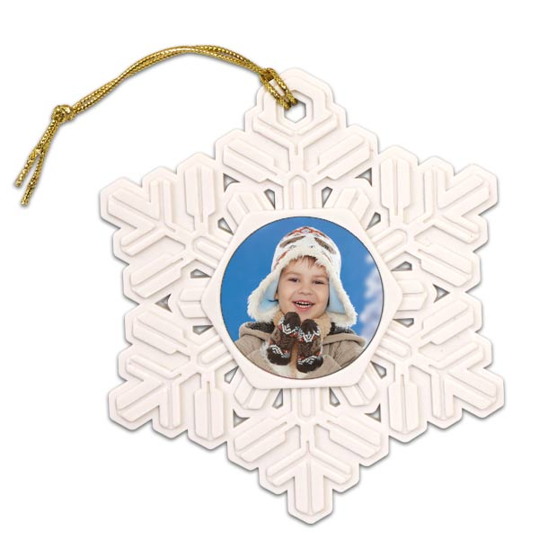 Add your own photo and create a beautiful resin snowflake photo ornament