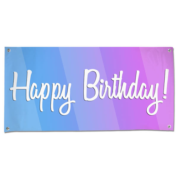 Celebrate a birthday with a party and be sure to decorate with a Happy Birthday Banner size 4x2