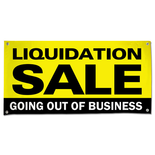 Manage your business and liquidation with a Going out of Business Liquidation Sale Banner 4x2