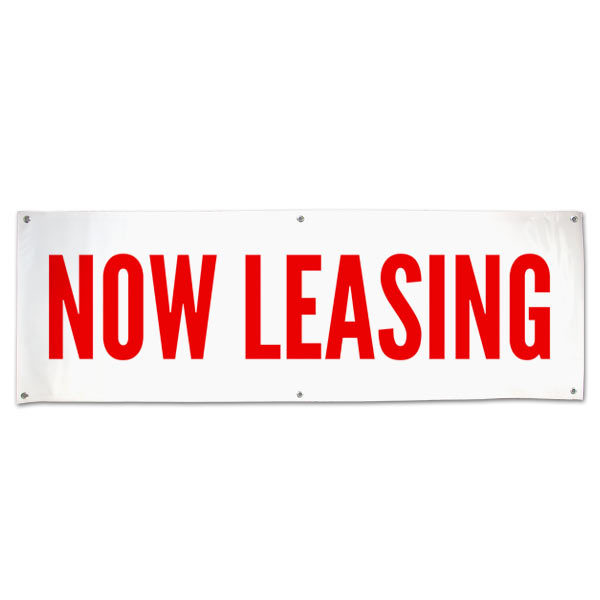 Lease your space with this Commercial Real Estate Now Leasing Banner size 6x2