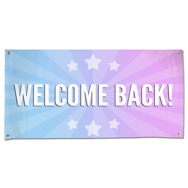 Celebrate the arrival of someone you care about with a welcome back banner perfect for parties and decorations size 4x2