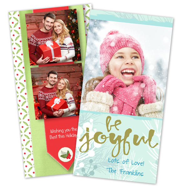 Create modern and fresh holiday cards using your own photos and MyPix2