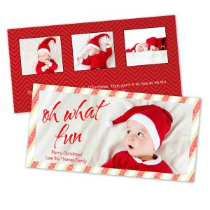New two sided designs for your Holiday Cards are sure to be loved by all.