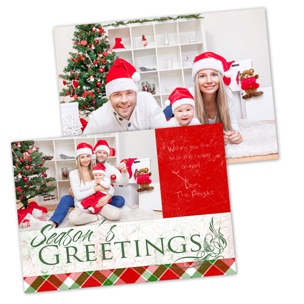 Send a few pictures to family with double sided cards from MyPix2 for the Holiday Season