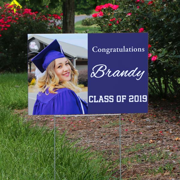 Custom lawn signs are great for parties and events, and perfect for your graduating senior
