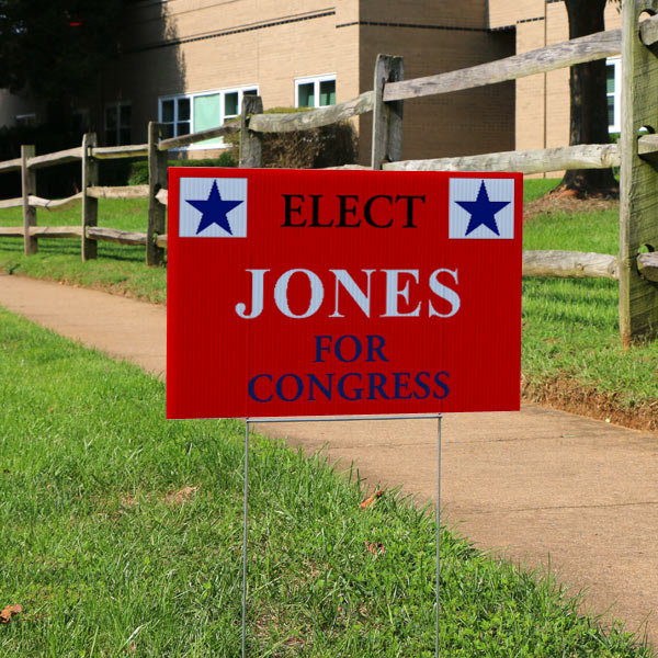 Create your own election sign for congress board with MyPix2 lawn signs