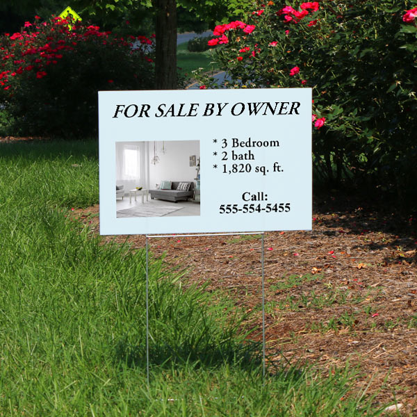 Market your business or sale your items with a yard sign