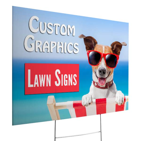 Create a lawn sign that will attract attention with MyPix2 yard signs