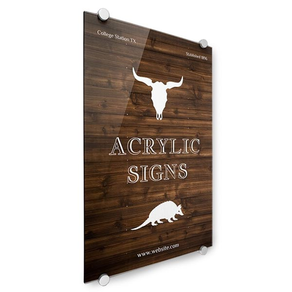 Perfect for your store, create an acrylic sign to market your goods