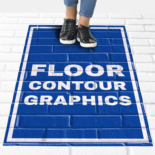Create your own floor signage for outdoor use, sticks to sidewalks