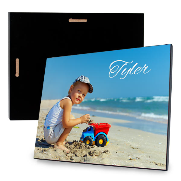 Print your photo on a modern wood glossy photo panel