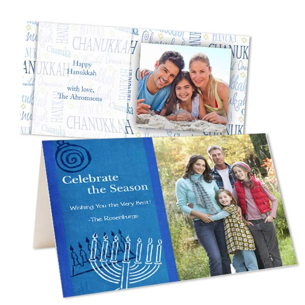 Create your own Hanukkah cards with MyPix2 custom greeting cards