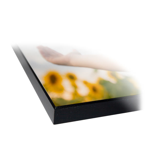 Print your photo to a hard pressed and finished wood photo panel with beveled edge