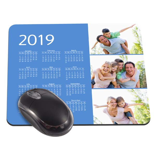 Choose from multiple designs and create a custom mouse pad calendar for your desk