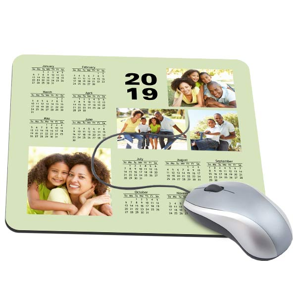 Create a beautiful and useful mouse pad for your desk featuring a 2019 Calendar