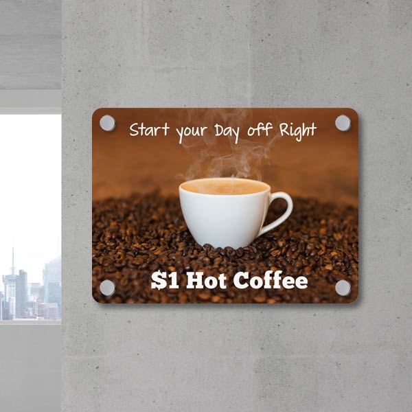 Create a sign for your business and advertise your products