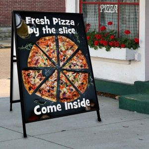 Get your business seen with custom outdoor sidewalk signs with photos