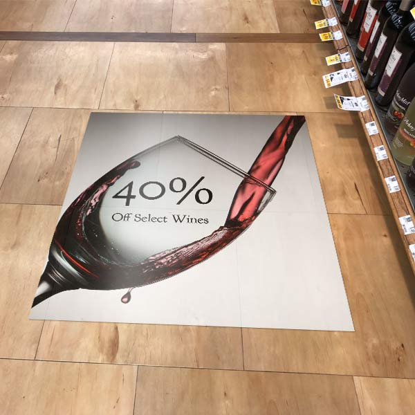 Personalized floor advertising graphics increase sales in your shop