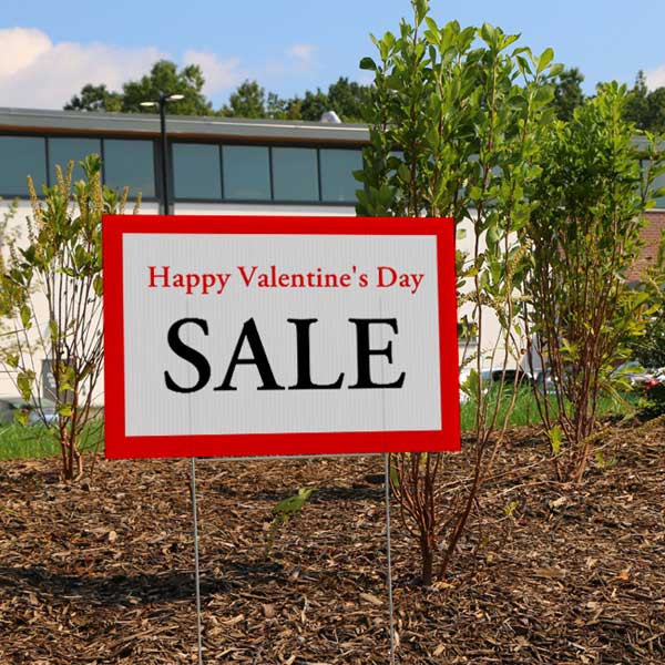 Create yard signs to place around your store and advertise a sale