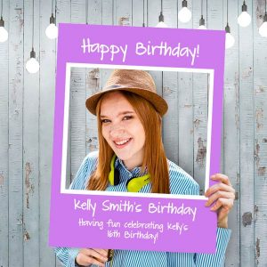 Create a custom selfie frame for your party or event and have fun sharing photos