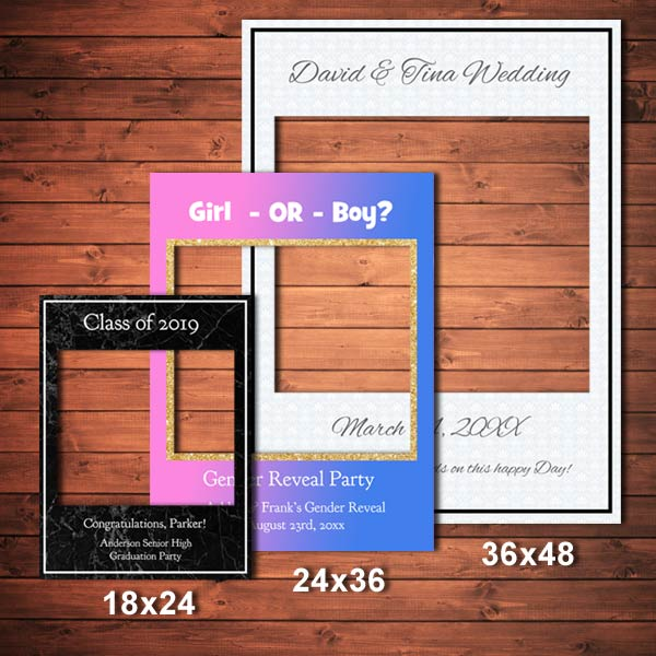 Selfie frames can be used for any event or announcement and are great with props