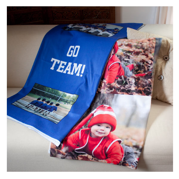 Photo collage fleece blankets for your home are a great way to use your pictures and share your memories