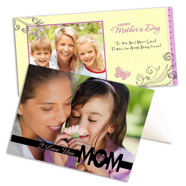 Create your own card for Mom with MyPix2 personalized Mother's Day Photo Cards