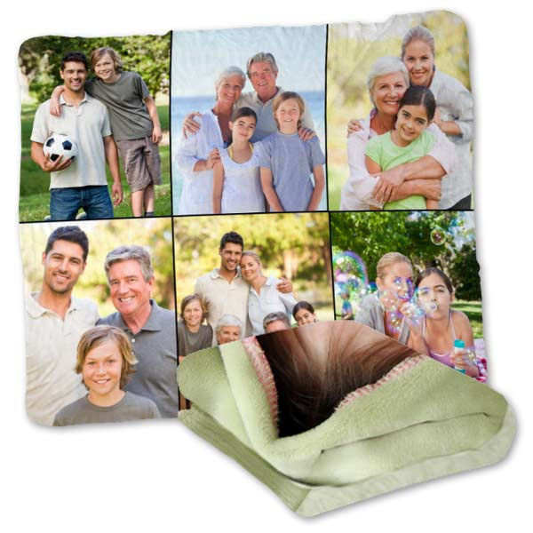 Snuggle up to our super soft plush fleece, ideal for a collage of photos