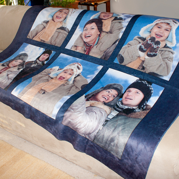 Decorate for winter with a photo custom sherpa, perfect for your couch and keeping warm on a chilling night