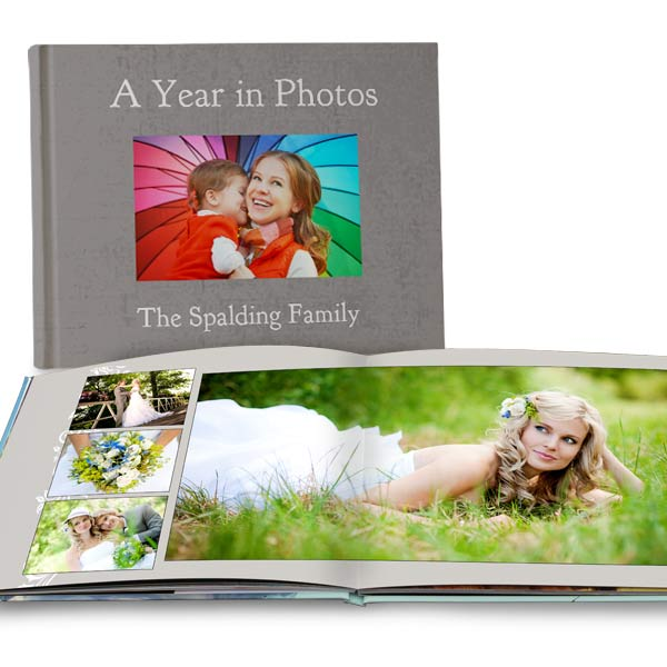 Full spread lay flat photo book with photos spanning across 2 pages makes the perfect gift