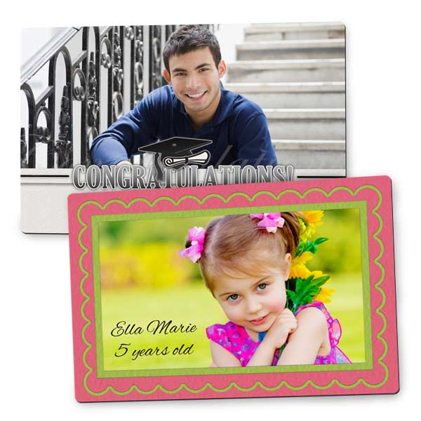 Turn your photo into a lasting display on a magnet perfect for the fridge