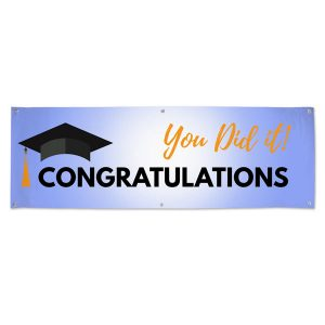 Decorate for your Graduation Party with a Congratulations Banner