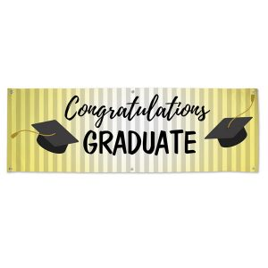 Celebrate your students graduation with a party and order a vinyl banner for the event