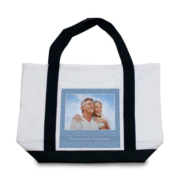 Create your own beach bag or baby bag with custom photo Canvas Tote Bags