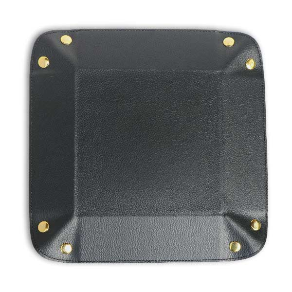 Valet trays made of genuine black leather are elegant and perfect for your desk or table