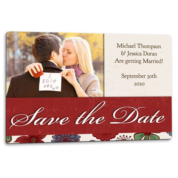 Send a magnet to make the moment special with save the date magnets