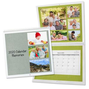 Create a custom picture calendar using your own photos and custom dates