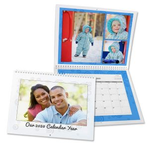 Relive a favorite memory each month and create your own custom spiral bound wall calendar.