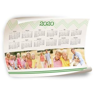 Fill your wall with a year at a glance using a 12x18 Calendar poster